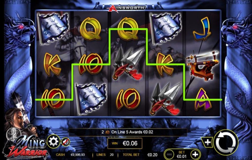 ming warrior slot machine