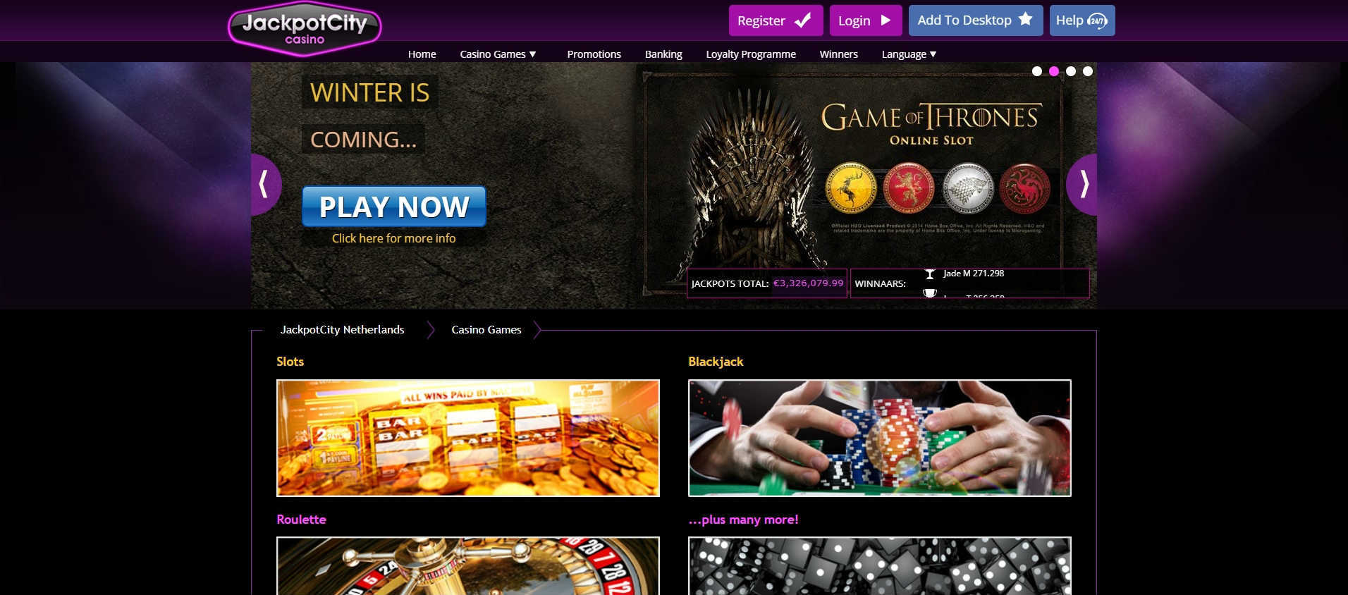Jackpot City Casino Online Casino Games