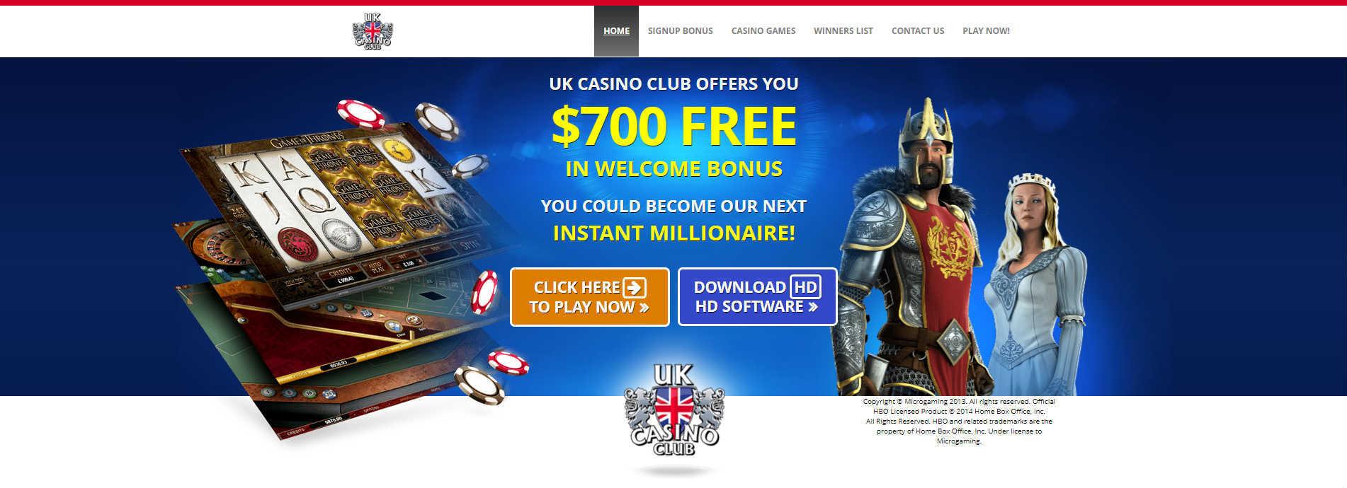 UK Casino Club Online Casino Bonuses