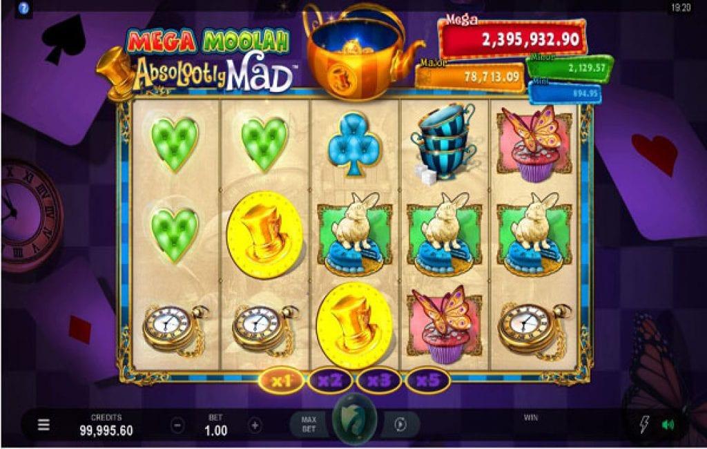 Absolootly Mad Mega Moolah slot game